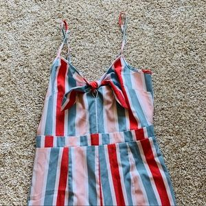 🦋 Colorful striped pantsuit/ small